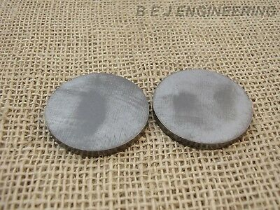 "Mild Steel Disc Circle 50mm(2"") dia x 5mm(3/16"") Pk of 2 - Laser Cut"