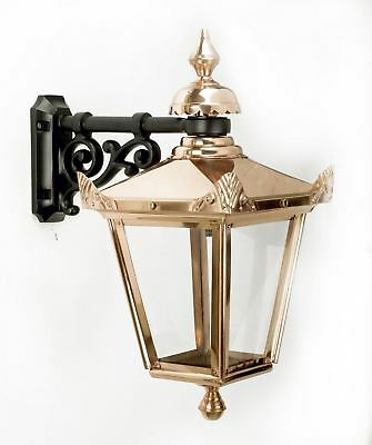 USED EX-Display Top Fix Copper Victorian Style Lantern and Wall Bracket