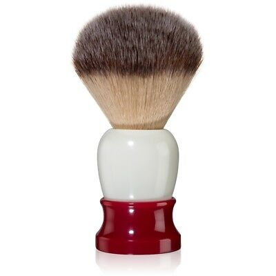 Fine 'Classic' Synthetic Hair Shaving Brush with Red/White Handle