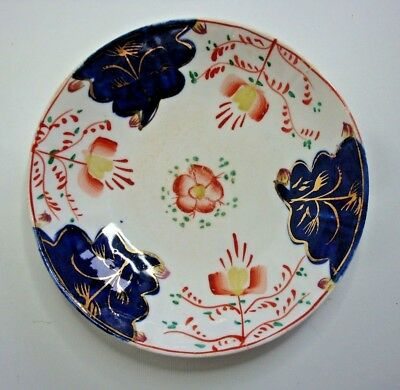 Antique Gaudy Welsh Saucer / Dish in Tulip or Swansea Cottage Pattern c.1830