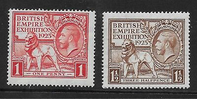 Great Britain  Sg 432/33  1925 Wembley Set   Very Fine Mounted Mint