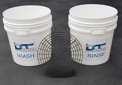 2 X Car Wash Detailing Bucket & Dirt Grit Guard Washboard Insert for Auto Care