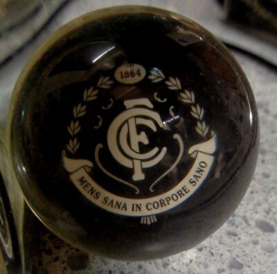 "AFL ""Carlton"" Clear Rubber Bouncy Ball,  Brand New"
