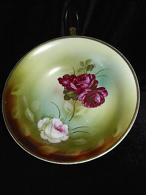 Vintage Decorative Porcelain Bowl with Roses Made in Germany Hand Painted