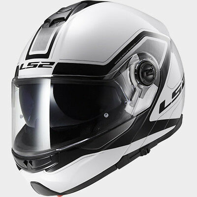 LS2 FF325 STROBE CIVIK WHITE BLACK Klapphelm