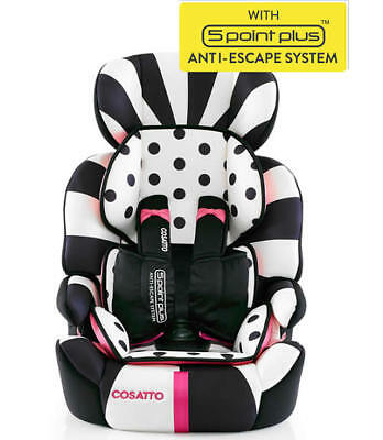 Brand new in box Cosatto zoomi group 123 anti escape car seat in Go lightly 2