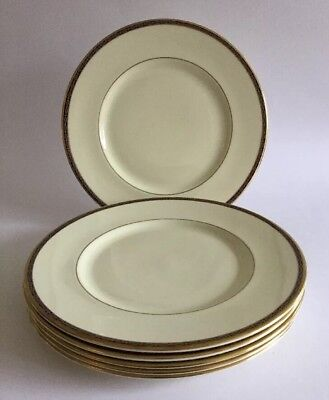 6 X MINTON 27cm DINNER PLATES 'ST JAMES'  ~ NEW & UNUSED ~ 2nd QUALITY