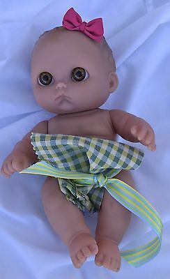 Berenguer Doll Chubby Adorable Baby Doll Pouty Brown Big Eyes Baby Shower Gift