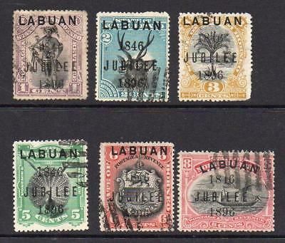 Labuan Set of Jubilee Stamps c1896 Used (faults)
