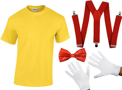 Adult Tweedle Dum Dee Costume Alice In Wonderland Fancy Dress Outfit Book Day