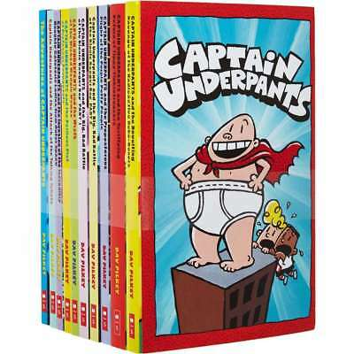 Captain Underpants: 10 Book Set by Pilkey, Dav