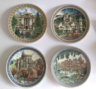 """ROYAL WORCESTER ~ ROYAL PALACES COLLECTORS 8"""" PLATES ~ Set Of 4  BY SUE SCULLARD"""