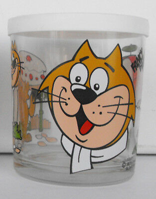 HANNA BARBERA TOP CAT FANCY FANCY glass 1997 ITALY nutella RARE exc. condition
