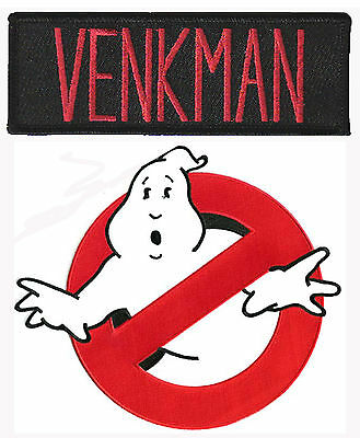 Ghostbusters - Venkman + no Ghost - Uniform Kostüm Patch - Aufnäher Set - neu