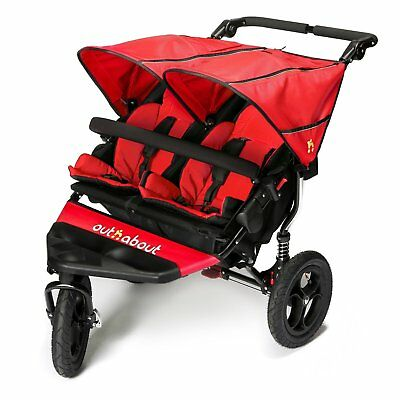 Brand New Out N About Nipper Double V4 Pushchair Carnival Red Ages From Birth+