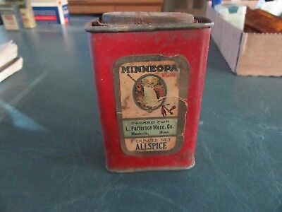 Vintage Minneopa Allspice Spice Tin Can  2 oz. Only 1 On Ebay!  Lot 18-10