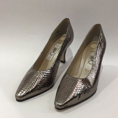 38a68761447 IMPO GENUINE SNAKESKIN PUMPS Brown/Gray/Taupe POINTY TOE MEDIUM HEEL ...