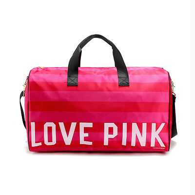 Victoria's Secret PINK Gym Duffel Travel Tote Bag With Handle and Strap NEW