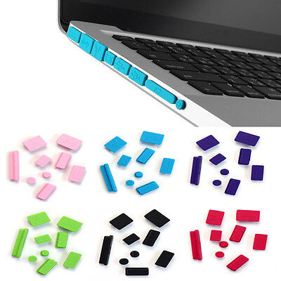 9pcs Silicone anti dust plugs Cover for Macbook Pro13/15 Stand