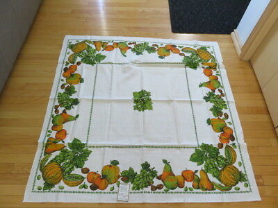 "Vintage Tablecloth - Varitex - Pattern Lushus - 51"" By 51"" -  Unused"