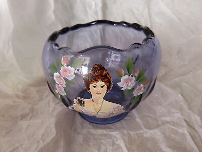 Coca Cola Bowl or Candy Dish, Fenton, Signed C. Griffiths