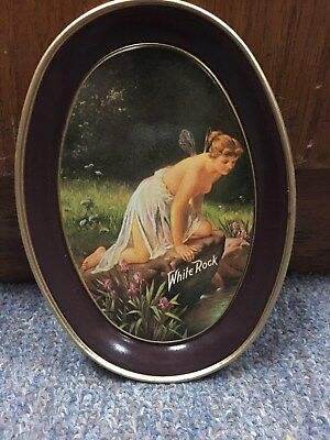 Vintage White Rock Fairy Lady Tin Tip Tray New Old Stock By Fabcraft Usa L@@k