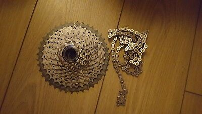 Shimano Deore XT M8000 11 speed 11-40 cassette With KMC Chain
