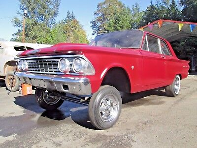 1962 Ford Fairlane 2 Door Vintage Style Gasser Straight Axle Race Car Old School Project No Reserve LOOK!