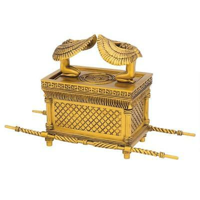 Guardian Cherubim Ark of the Covenant Ornate Golden Treasure Lidded Trinket Box