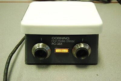 "Corning PC-351 7.5"" x 6"" Hot Plate Stirrer (WORKS GREAT)"