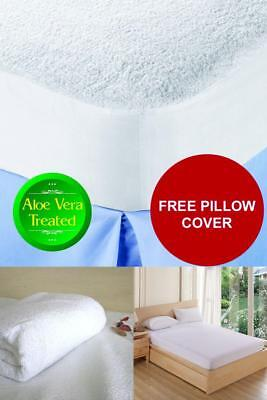 Mattress Protector Bed Cover Waterproof Terry Towel Fitted Sheet Pad Queen Size!