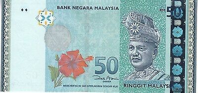 MALAYSIA 50 Rgt Uncirculated Note (2012) Beauty!