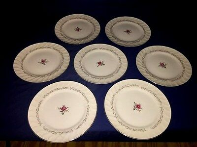 "7 Vintage Fine China of Japan ""ROYAL SWIRL"" 10 1/4"" Dinner Plates ~ Excellent"