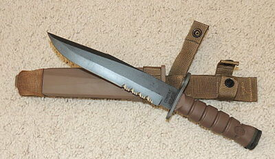 NEW USMC OKC-3S Bayonet With Scabbard -  Coyote Brown-Ontario Knife Co.