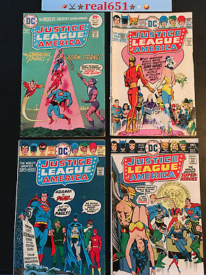 JUSTICE LEAGUE of AMERICA #120-121-122-128 1975-76 Lot | ADAM STRANGE | real651