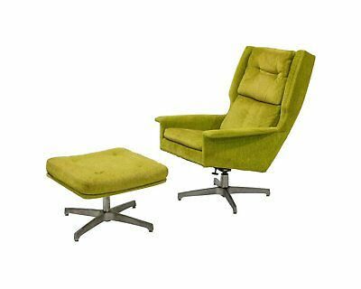 Mid Century Modern Danish Jack Cartwright For Founders Lounge Chair And Ottoman