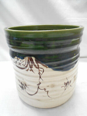 Antique Glazed CeramicTemple Hibachi Tea Ceremony Pot Japanese Circa 1920s #25