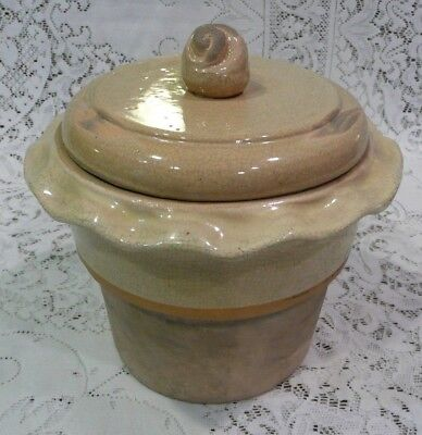 Ethan Allen Rowe Pottery Works Crock And Lid