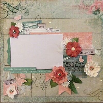 handmade scrapbook page 12 X 12 So many Of My Smiles Begin With You.. Layout
