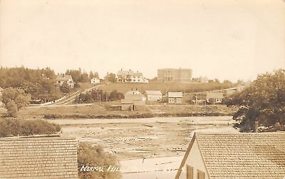 Machias~University of Maine~Early View~Normal School & Homes on a Hill RPPC 1912