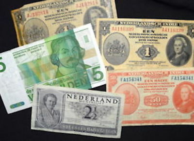Lot of MIXED BANKNOTES From NETHERLANDS