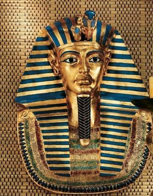 "Egyptian King Tut Tutankhamen Egypt Boy King Golden Mask 21½"" Wall Sculpture"