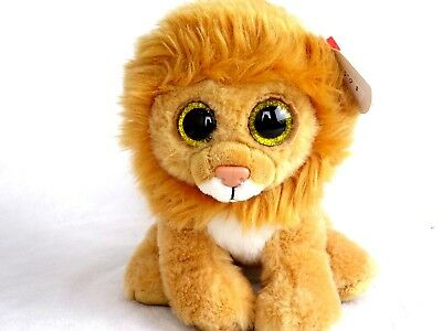 TY Beanie Boo Louie the King Leon Plush Stuffed with heart tags Animal Toy 4055106a9ded