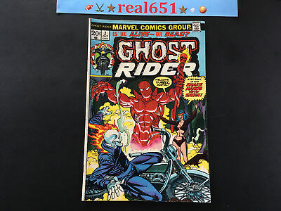 GHOST RIDER #2 Oct 1973 1st Full App DAIMON HELLSTROM   Glimpse Costume real651
