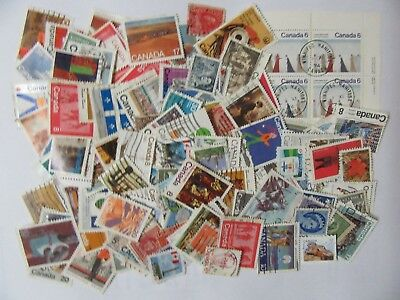150 Canada Stamps - Used - All Different - Lot 5