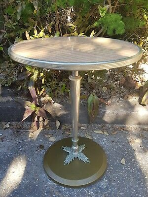 small ornate vintage side lamp table furniture decor retro 40cm round 50cm tall
