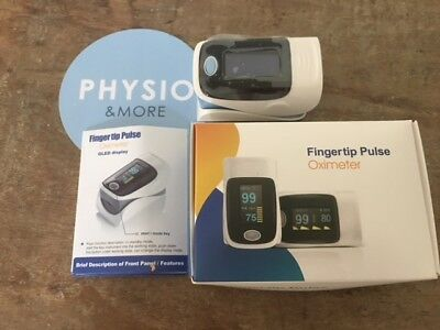 OLED Display Digital Fingertip Pulse Oximeter SpO2 Oxygen Monitor  from Physio