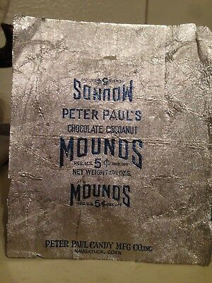 Vintage Peter Paul's Mounds Candy Wrapper...1920's