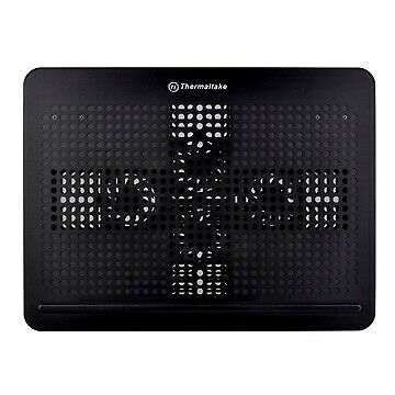 """Thermaltake Allways Cool Notebook Cooler Black Four 6cm Fan Aluminum up to 17"""""""