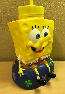 "SPONGEBOB ~ Large Big 9"" Mug Drink Cup Sipper Figure Toy Collectible w/ Straw"